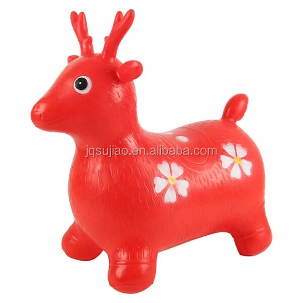 inflatable animal 1250g jumping deer cartoon deer toy for children