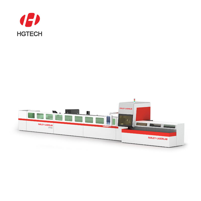 China HGTECH 2019 new Automatic Cutter plate and tube fiber laser cutting machines price for stainless steel aluminum