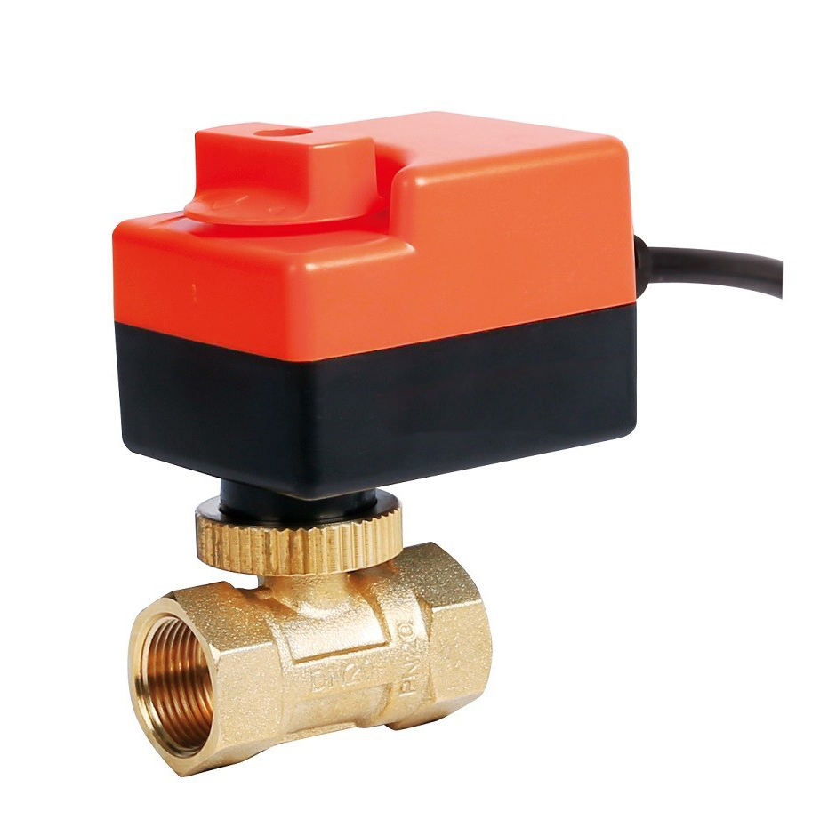SR207 dn25 pn16 1'' inch mini electric electro motor forged brass ball valve