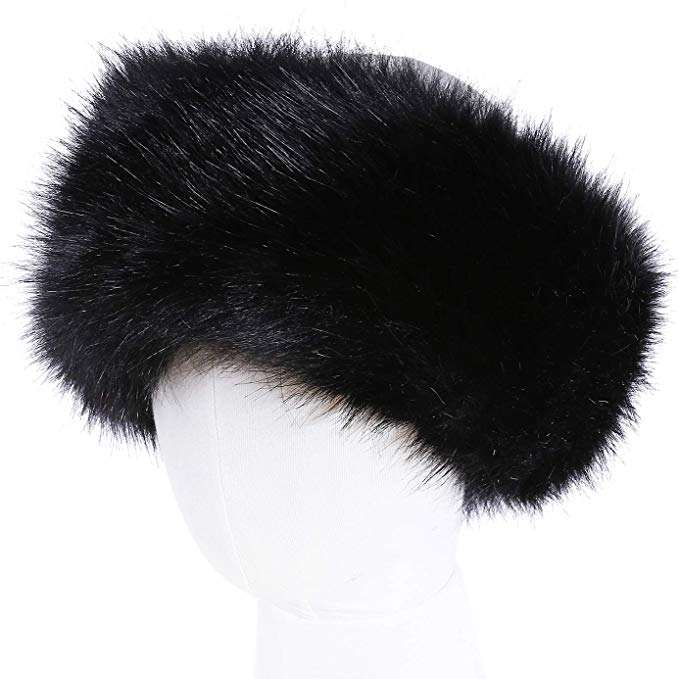 Resnord Elastic Women Winter Faux Fur Headband