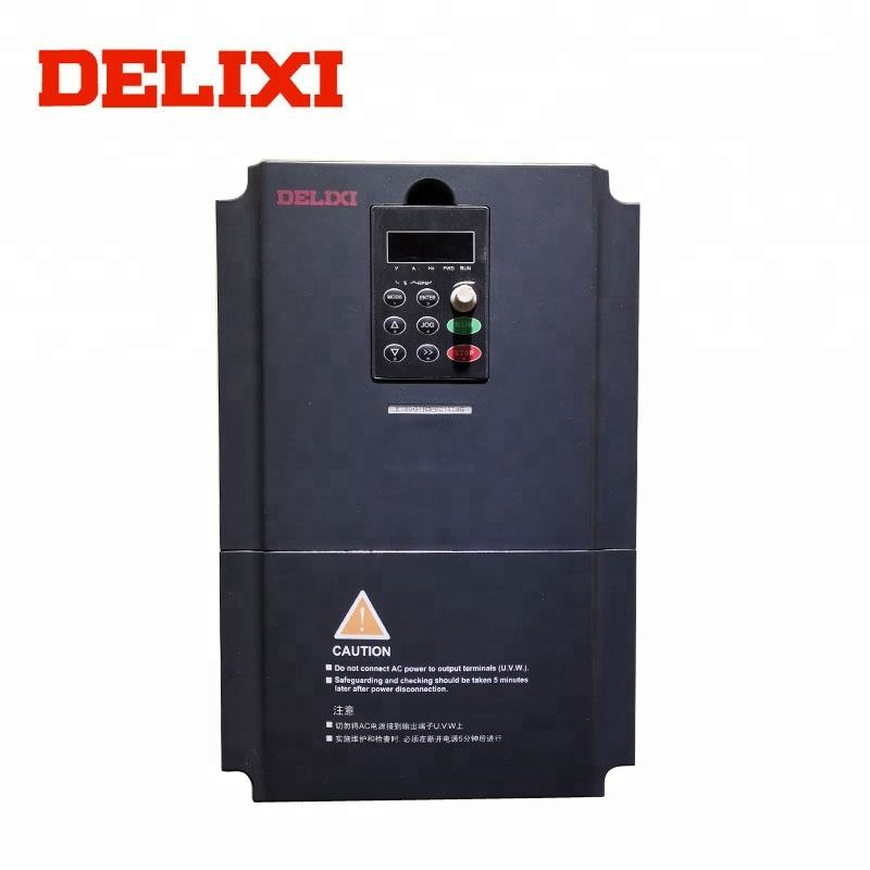 DELIXI RS485 communicated 220v 3 phase 7.5kw VFD ac frequency inverter used for pump motor control