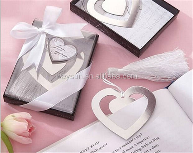 """Love Story"" Silver Metal Heart Shaped Bookmark With Tassel Wedding Favor And Gifts DHL Freeshipping"