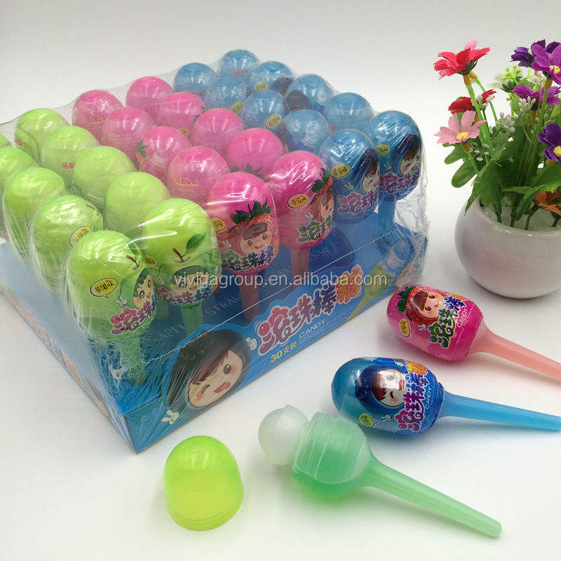 Colorful Funny Fruity Liquid Candy with roll syrup toy
