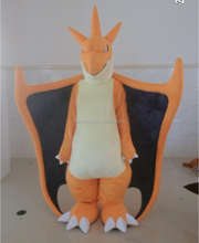 2016 newest pokemon Fiery dragon mascot costume for adult