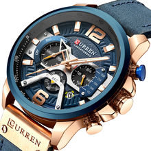 CURREN 8329 Relogio Masculino Sport Watch Men Top Brand Luxury Quartz Men's Chronograph Date Military Wrist Watches Waterproof