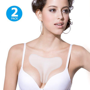 Amazon hot sale Eco Reusable Transparent Silicone Anti Wrinkle Chest Pad silicone chest pad for female