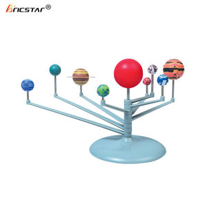 Bricstar kids educational DIY solar system astronomy planetarium model toy, mini colored plastic planets toy