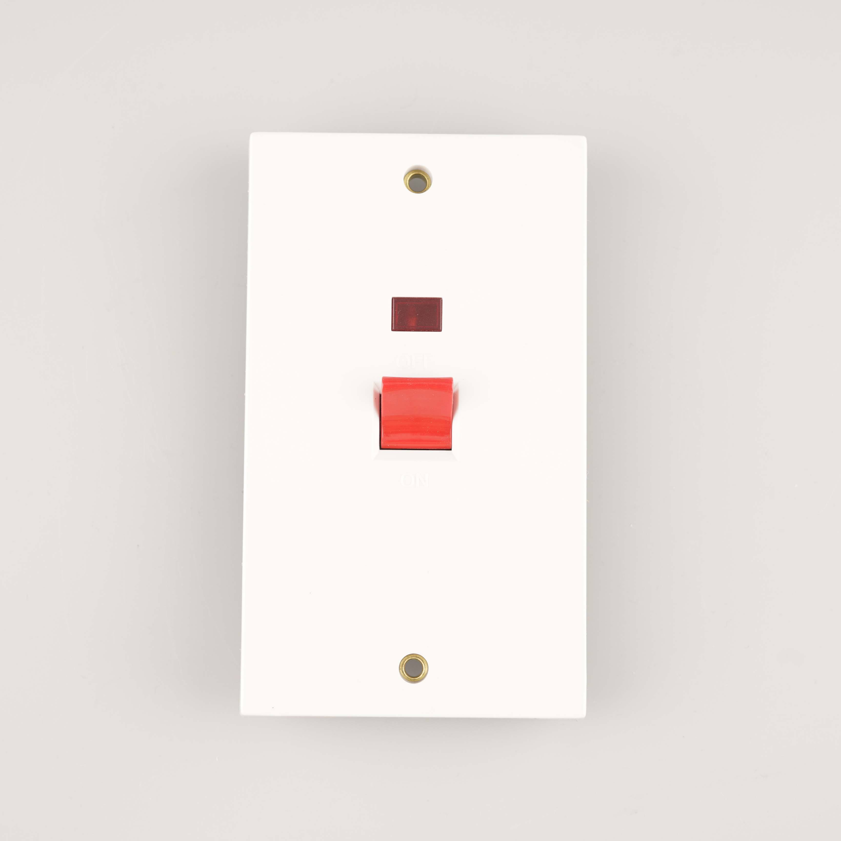 WK 45A Cooker Double Plate Wall Switch