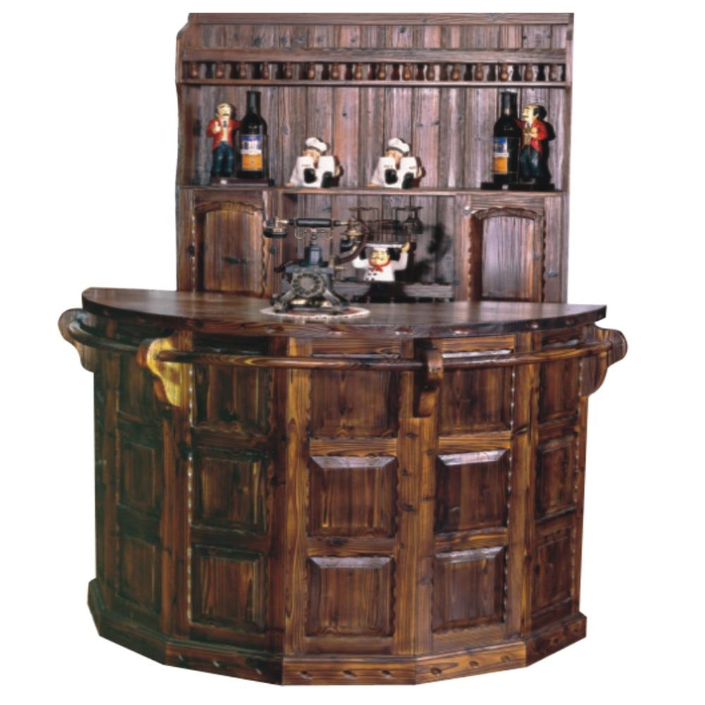 Hot sale round bar counter is made of import solid wood for home bar