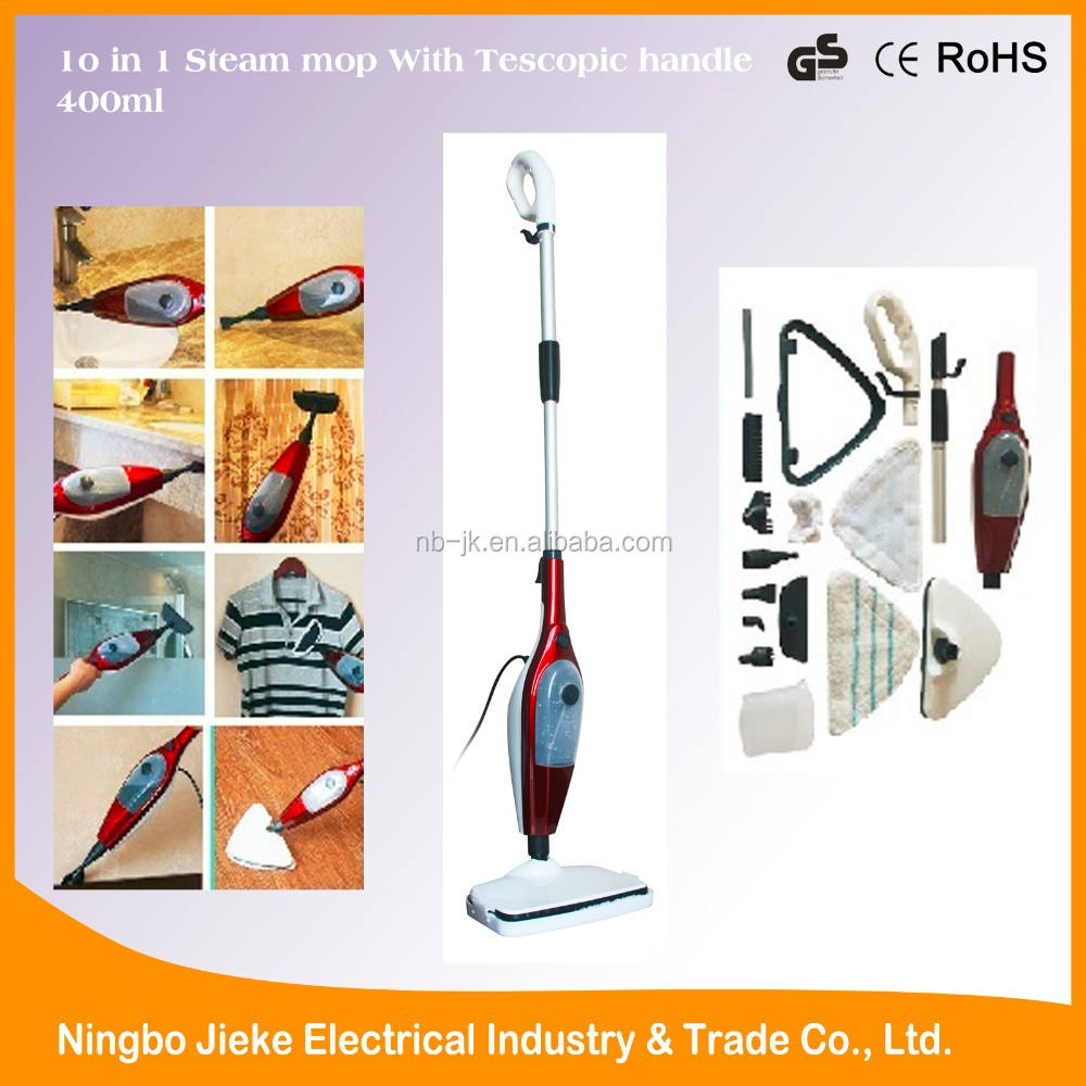 1300W 220V multifunction power electric steam mop x12 with CE GS ROHS