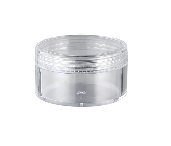 cosmetic plastic containers 3g 5g 10g 15g 20g 30g Clear crystal PS jar with clear screw cap for sample face cream