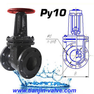 pneumatic actuator falnged gate valve