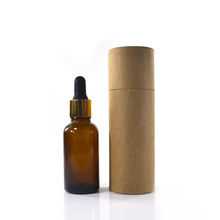 Wholesale  5ml 10ml 15ml 20ml 30ml 50ml 100ml clear amber essential oil glass dropper bottle with paper tube