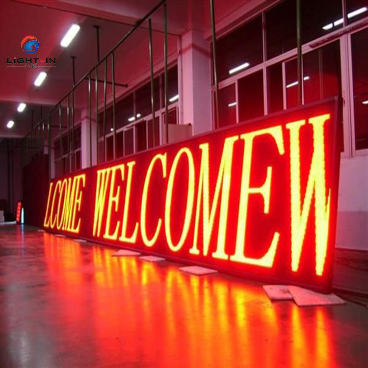 Outdoor Scrolling Display P10 Red Programmable LED Moving Text Sign