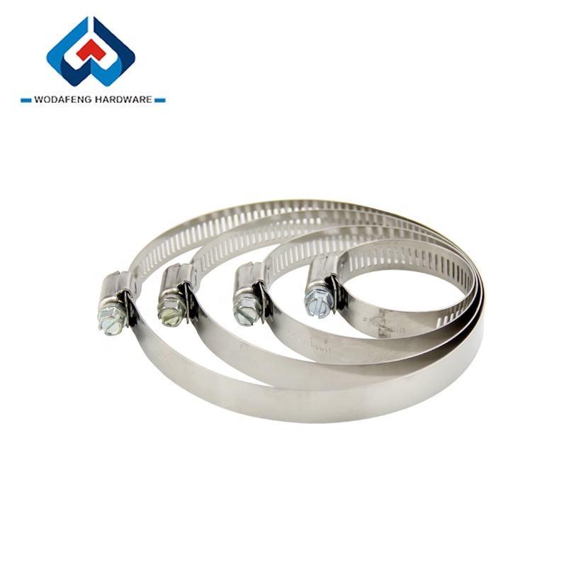 Metal hose clamp