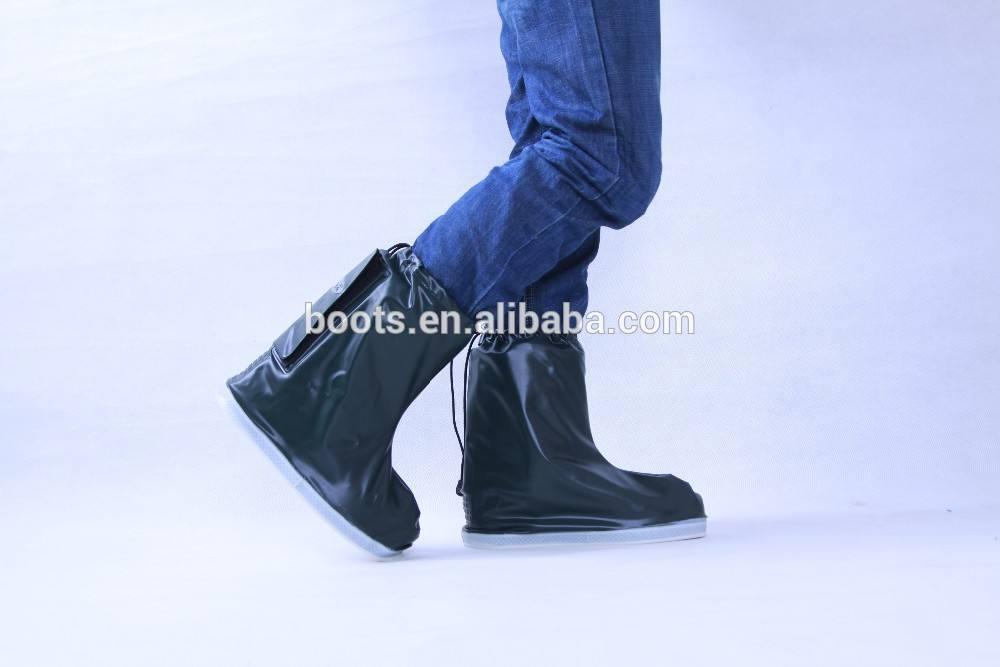 pvcレインブーツの女性はニーハイファッション靴