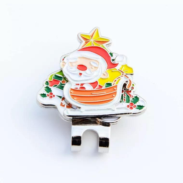 golf accessories ball marker hat clip mini santa hat clip for christmas gifts