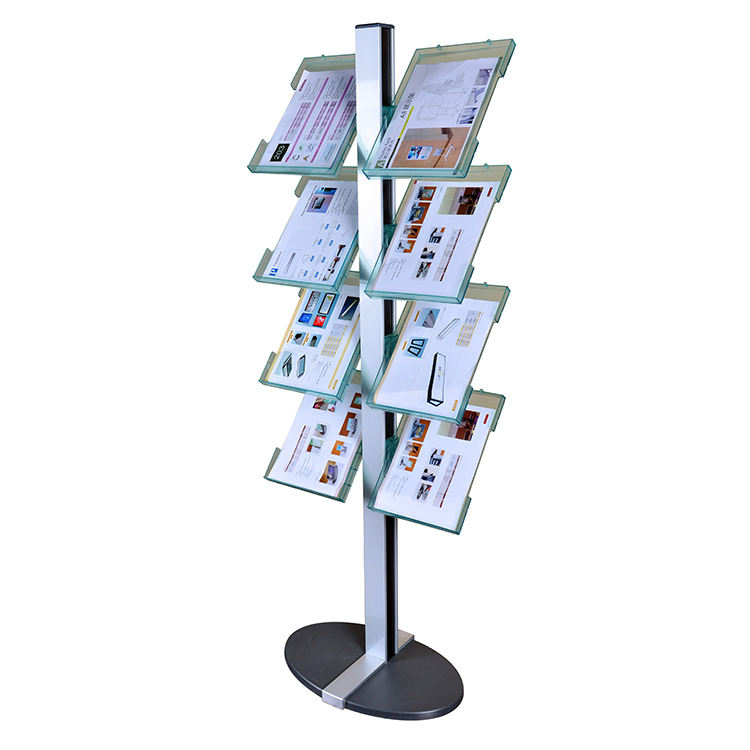 Customized display stand for magazine / display rack for brochure / wire display shelf for books