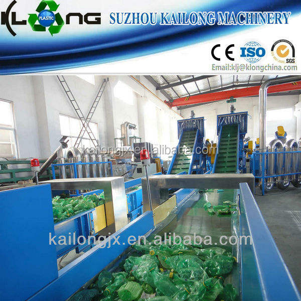 automatische pet plastic fles recycling machine van china