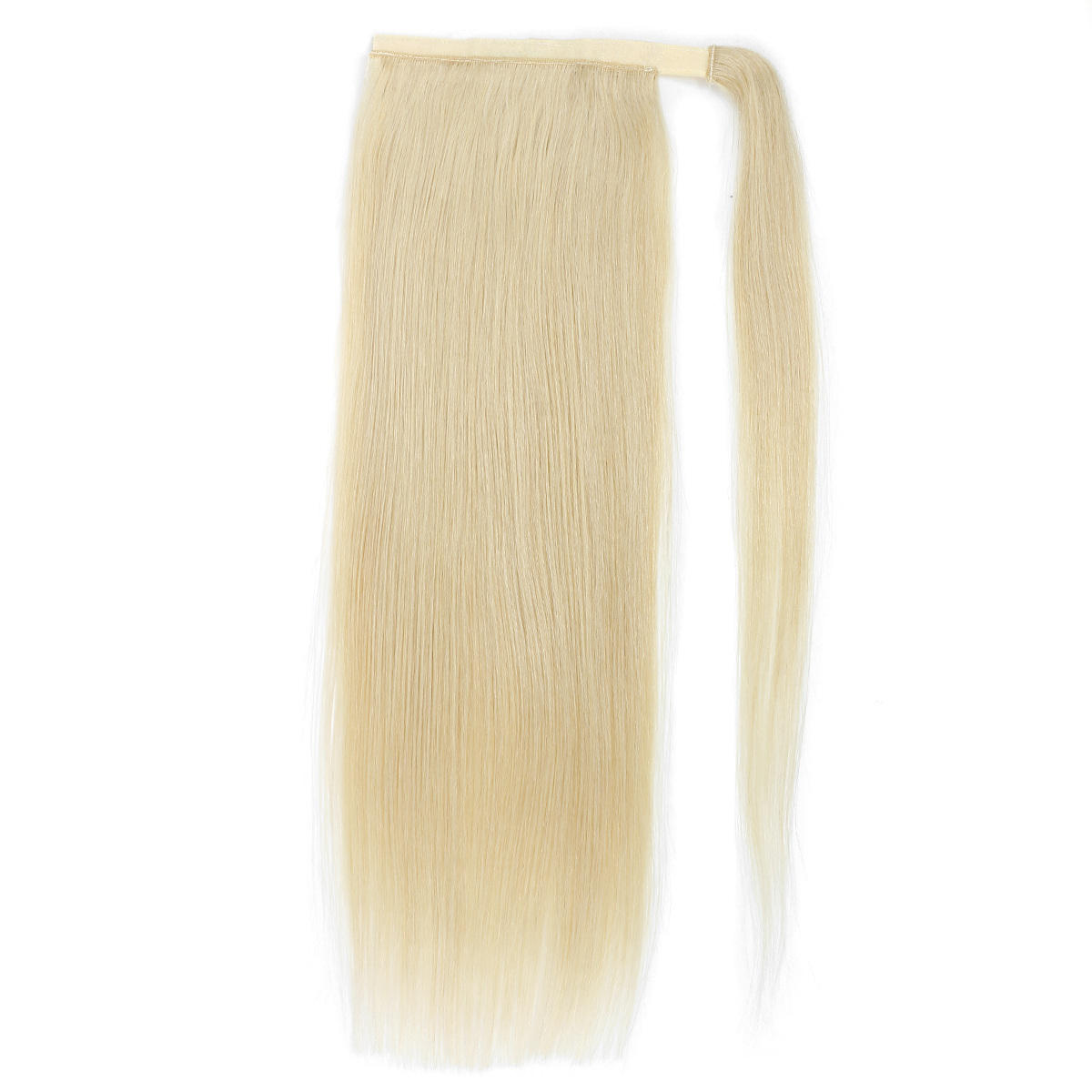 60g 16inch Hot Products Human Hair Drawstring Ponytail 613 Color Straight Ponytail Human Hair Extension