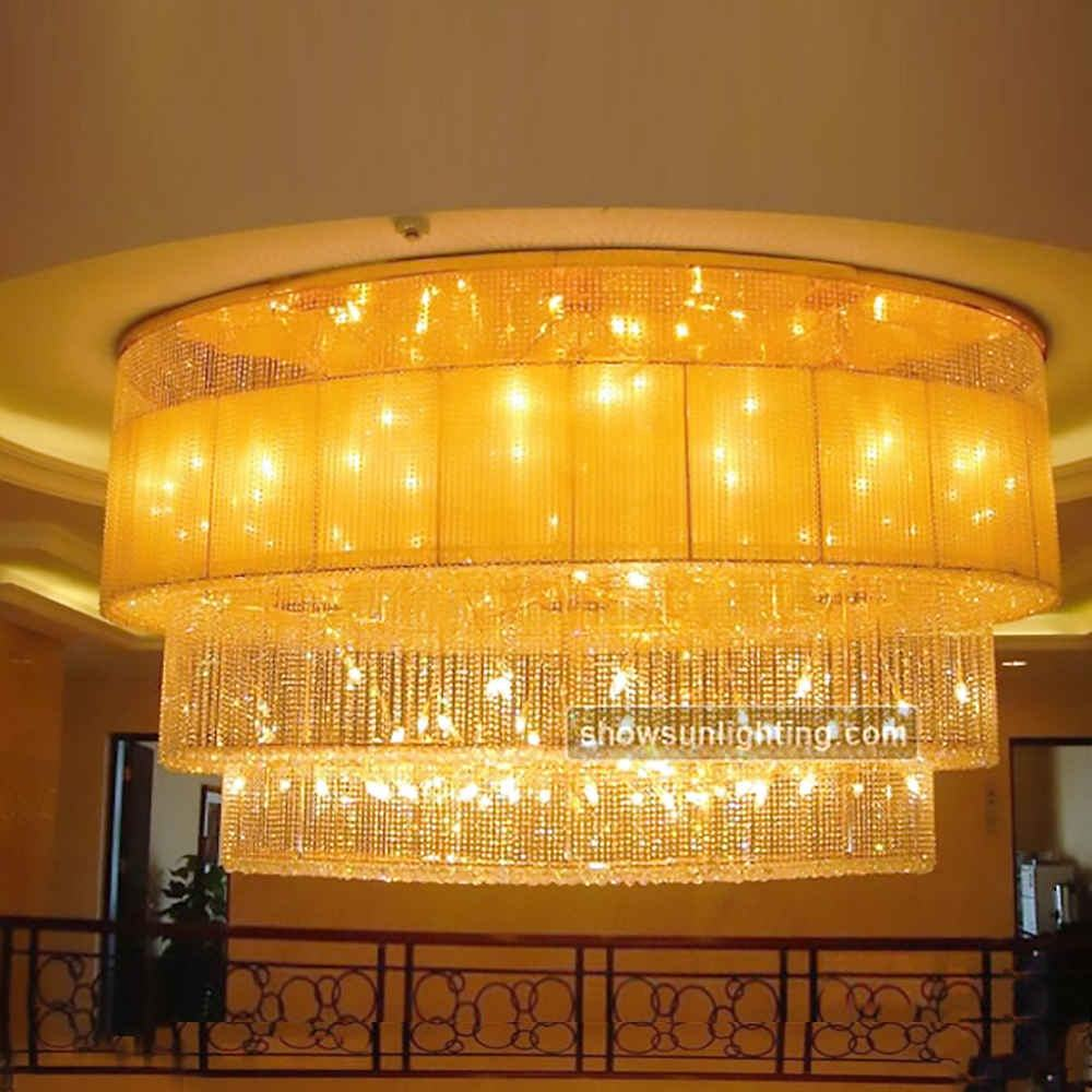 Modern crystal chandelier cristal lamp chandlers lights for hotel
