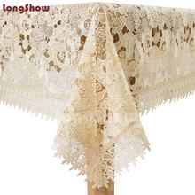 Rectangle restaurant ruffled party cover lace satin table overlays cloths