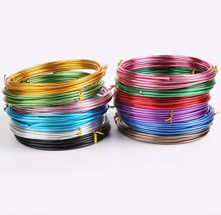 Colorful 5Meter 10Meter 18 Gauge Aluminum Wire 1.0MM Bulk Aluminum Wire For Multicolor Aluminum Bonsai Wire