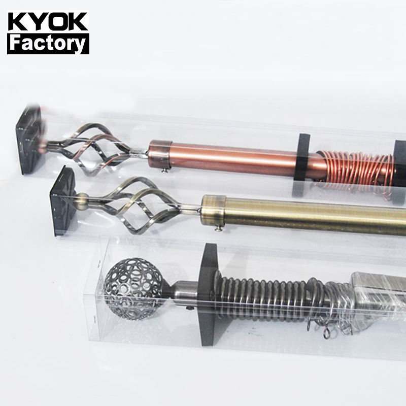 KYOK 2m 3m double extendable curtain rods wholesale