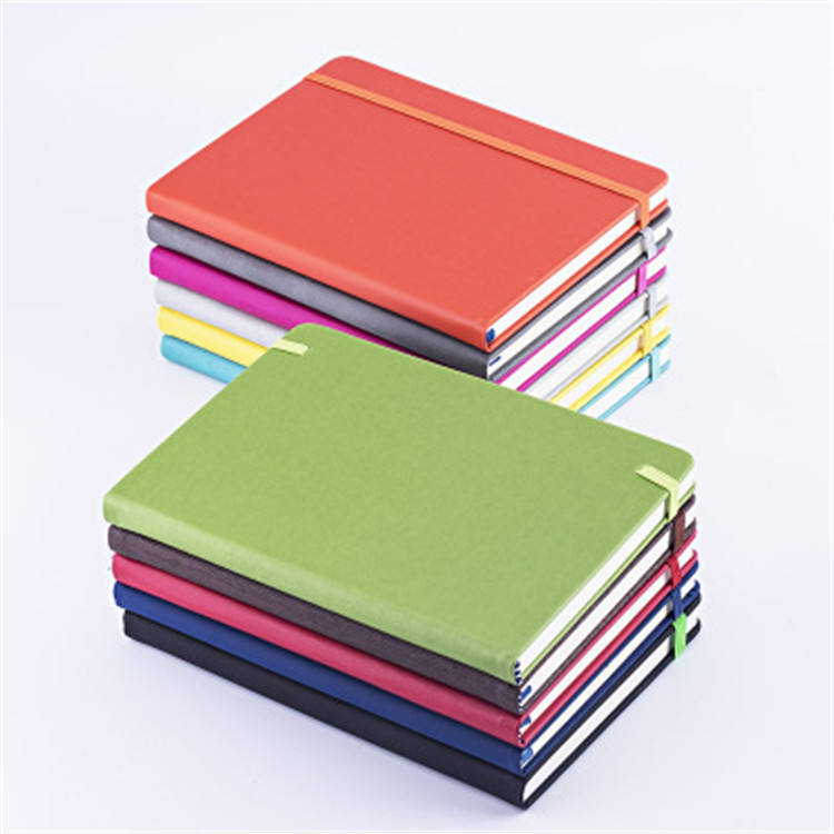 Simply Mini Style Wholesale One Color Printed Note book Hardcover Notebook With Elastic Band CC1002