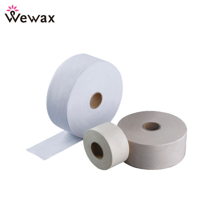 Custom depilatory wax strips cotton hair removal wax strips/rolls