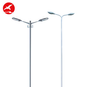 China Factory Custom Ip65 Galvanized 8 - 12M Single Arm Road Pole Parts Galvanized Street Light Pole