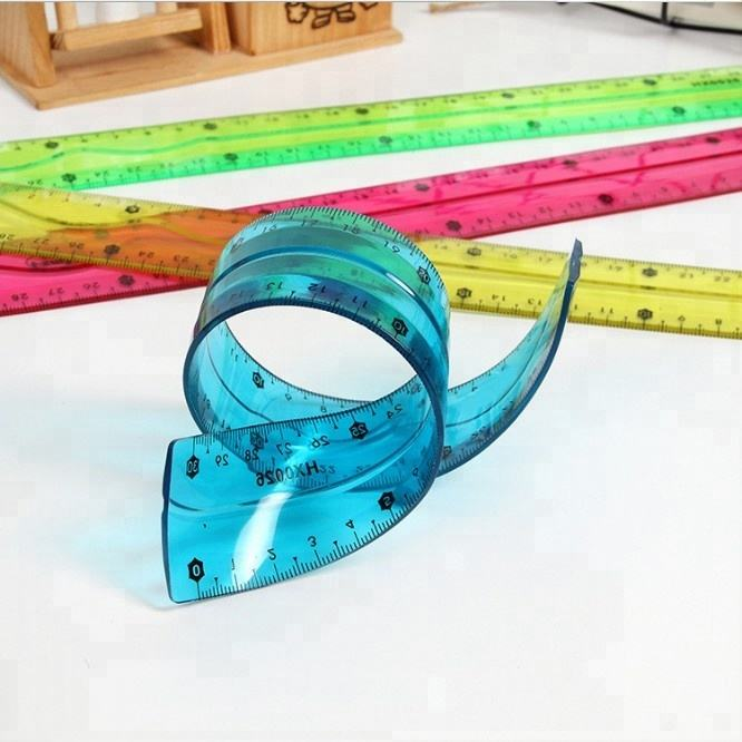 PVC Creative flexible safety plastic soft ruler