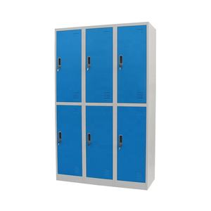 Customized bedroom furniture 4 door steel locker cabinet iron clothes wardrobe locker
