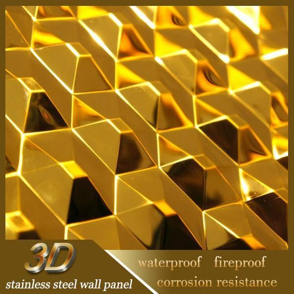 الفولاذ المقاوم للصدأ 3d لوحة الحائط <span class=keywords><strong>الزخرفية</strong></span> الداخلية