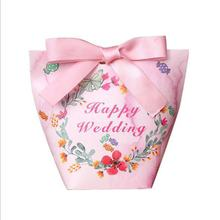 cute pink wholesale custom wedding favors candy boxes