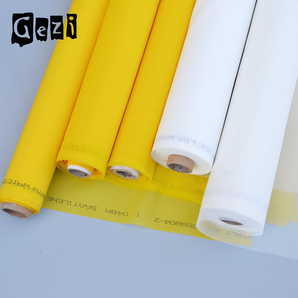100% polyester monofilament 43t printing mesh 110 mesh for silk screening T shirt screen printing mesh