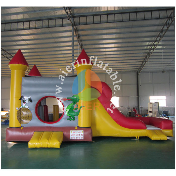 Aier hot inflatable bouncer combo Children animal printing inflatable bouncer house