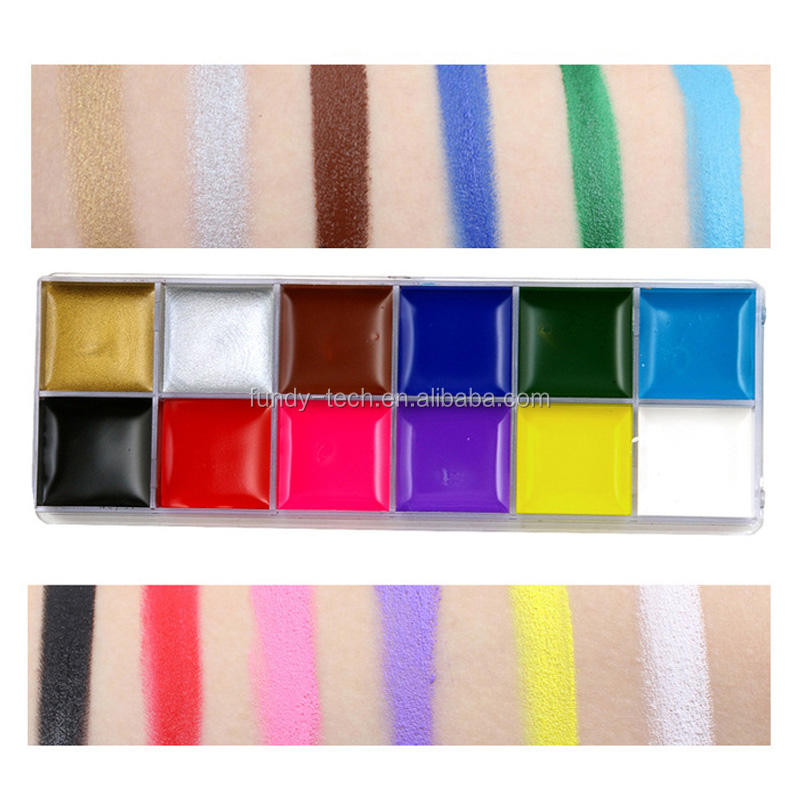 Private label Multi-Color Approved Waterproof Glow Body Face Paint