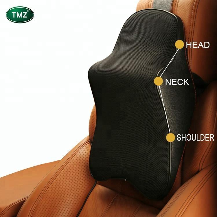 Car accessories luxury memory foam cervical neck pillow cushion car headrest seat head support pillow for back car neck pillow