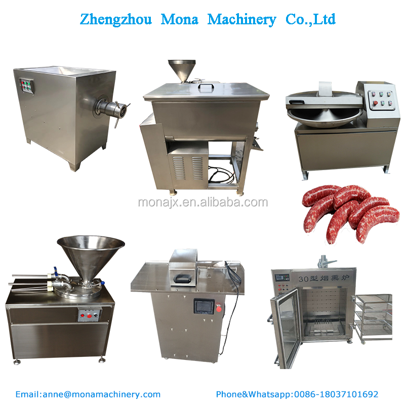 Complete Sausage Production Line/Smoked sausage processing plan / sausage Making Machine