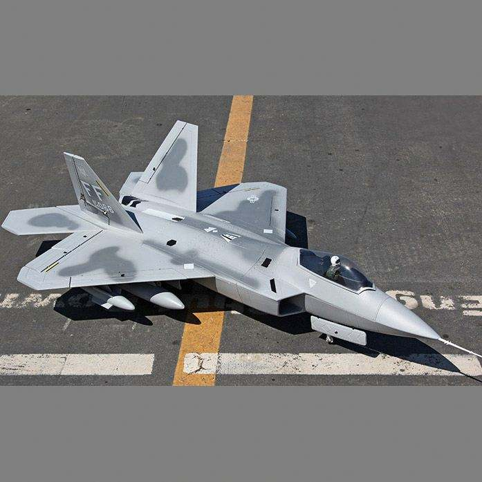 F-22 jet powered foam remote control plane model balsa airplane