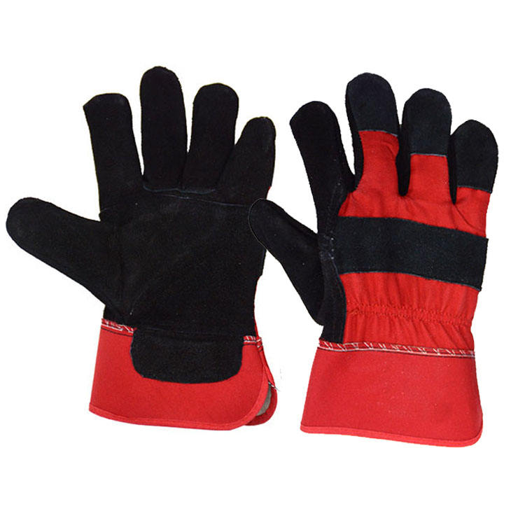 120 Pairs Red Rigger Double Palm Heavy Duty Gauntlet Leather Safety Work Gloves