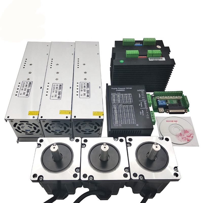 cnc router nema 34 stepper motor 8.5Nm and step driver 3axis kit