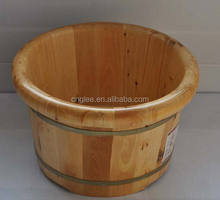 2018 hot Cedar wood spa foot barel wood foot bath barrel