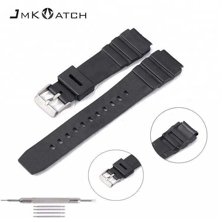 thin waterproof silicone rubber watch straps for casio F-84 F91 F94 watch