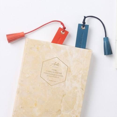 Genuine Leather Bookmark with Customized Logo for Promotional