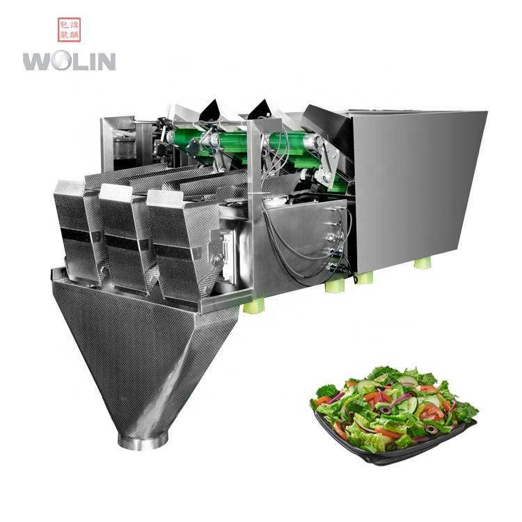 Low cost salad bean sprouts cut vegetable weighing filling packing machine