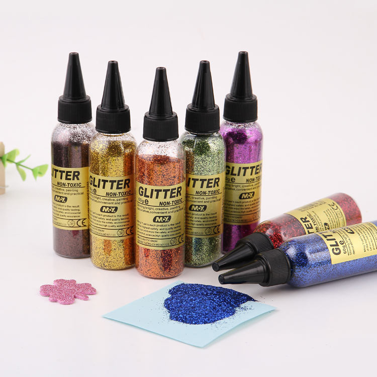DIY GLITTER. COLORFUL GLITTER