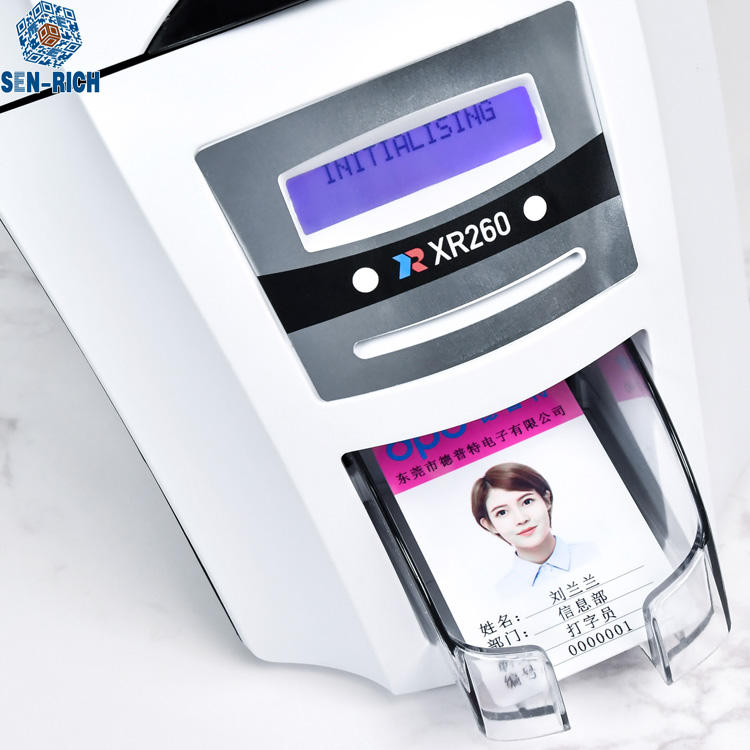 Productivity and Versatility Dual sides XR260 Plastic Hologram id Card Printer
