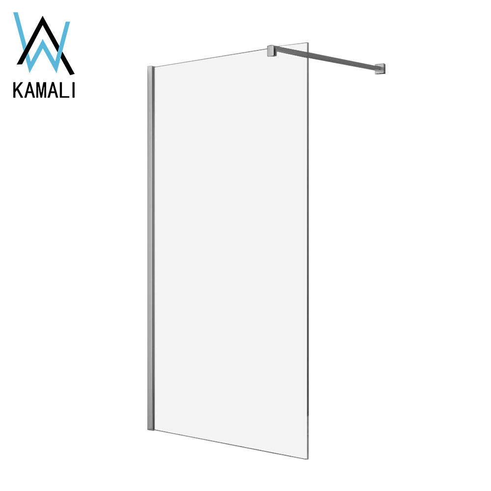 2019 Europe Normal Design (High) 저 (Quality Factory Price Customized 무 테 Safe Clear (gorilla Glass) Walk in Shower 룸, 샤워 스크린